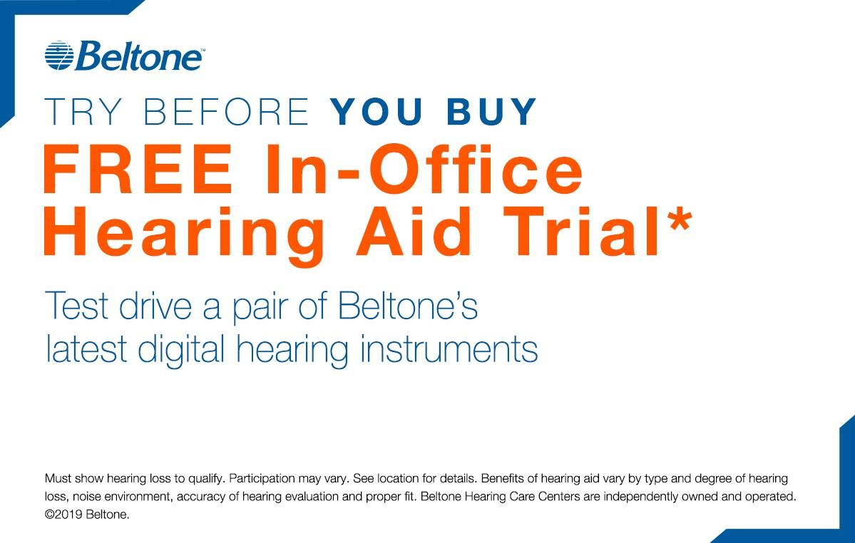 Free hearing screening coupon